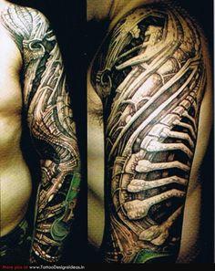a840944e3 Cool Tattoo Arm Designs, Full Sleeve Tattoo Design, Full Sleeve Tattoos, 3d  Tattoos