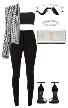 """Untitled #227"" by amoney-1 ❤ liked on Polyvore featuring Balmain, Victoria Beckham, Yves Saint Laurent and Auriya"