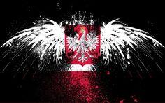 Polish in Rochester - Religious Art - Polish Saints - Joseph Mazur Eagle Background, Hungarian Tattoo, Left Arm Tattoos, Polish Embroidery, Polish Tattoos, Poland Flag, Trash Polka, Flag Art, Angels And Demons