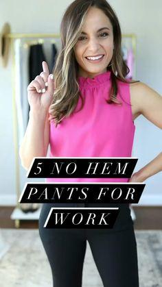 5 No Hem Petite Pants for Work | Pumps & Push Ups