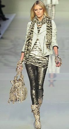Blumarine......I'd wear the top part with slim jeans and booties...