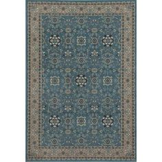 Traditional Design High Quality Floral Area Rug, 072