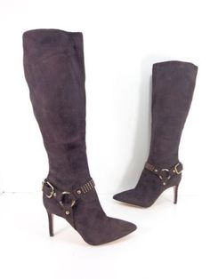 9921fa5b610 Women s Via Spiga Cinda Studded Halter Strap Knee High Boot - Narrow Calf 6  M
