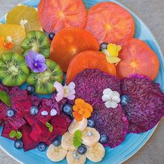 Sometimes a beautiful plate of fruit is all you need!  Persimmons oranges kiwi bananas berries red dragon fruit cubed and sweet one dehydrated. Eat the rainbow for a healthier and happier life!#cleaneating #dessert #delicious  #eatrealfood #fit #sflx #fruit #glutenfree #healthy #love #nutrition #organic #paleo #plantbased #rawvegan #smoothie #vegan #superfood #fitnessmodel #veganfoodshare #veganathlete #vegansofig #kitchenbowl  #hbloggers #bestofvegan #petitejoys #livethelittlethings…