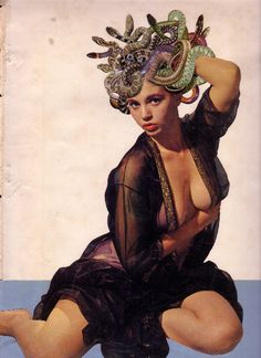 Medusa pin-up. Medusa Kunst, Medusa Art, Medusa Gorgon, Art Du Collage, Dada Collage, Mädchen In Bikinis, Pulp Art, Up Girl, Erotic Art