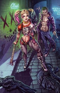 traditional art and digital color Comic Book Characters, Female Characters, Gotham, Hearly Quinn, Daddys Lil Monster, Joker Dc, Joker Wallpapers, Batman Universe, Dc Universe