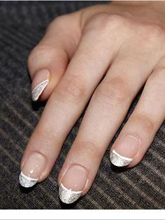 Double tip French manicure
