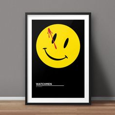 Watchmen Poster, Comic Poster, Minimalist Poster, Flat Poster Design, Clean Poster Design, Digital Printable Poster