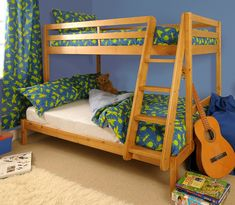 Triple Bunk Bed & Wooden Pine with Storage & Mattress Options - Durleigh Twin Full Bunk Bed, Triple Bunk Beds, Futon Bunk Bed, Bunk Bed Plans, Cheap Bunk Beds, Bunk Beds For Sale, Cool Bunk Beds, Bunk Beds With Stairs, Pine Bunk Beds