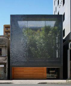 Optical Glass House by Hiroshi Nakamura & NAP: translucency - ripples
