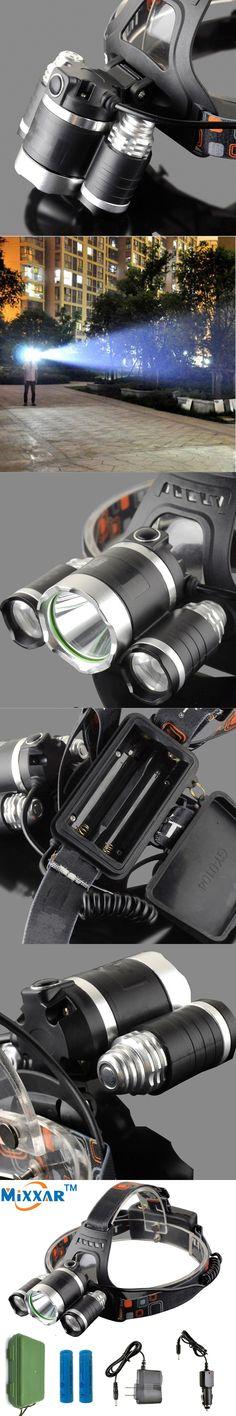 11000Lm Led Head Lamp 3 T6 LED Headlamp Headlight Camping Fishing Light +2*18650 battery+Car EU/US/AU/UK charger+1*USB Gift Box
