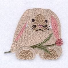Easter Bunny and Tulip - 4x4 | What's New | Machine Embroidery Designs | SWAKembroidery.com Starbird Stock Designs