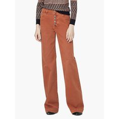 Mango Flared Button Trousers Caramel Size UK 10 UU 14 for sale online Trousers Women, Slouch Jeans, Casual Pants, Casual Outfits, Mango Suit, Suits For Women, Clothes For Women, Black Pencil Dress, Buttons