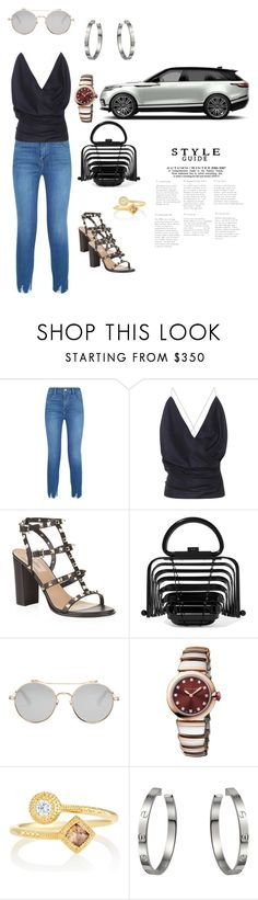"""Lookin for a cupcakes"" by shardet28 ❤ liked on Polyvore featuring J Brand, Jacquemus, Valentino, Cult Gaia, Givenchy, Bulgari, De Beers and Cartier"