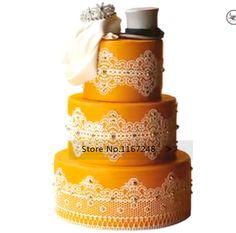 40cm*30cm Large Size Silicone Molds Fondant Cake Decorating Tools Silicone Lace…