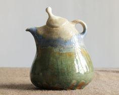 Landcape Teapot by herbariumceramics on Etsy