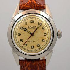 1950's Gruen Precision Autowind Stainless Steel Watch