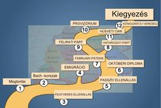 A kiegyezéshez vezető út Crafts To Make, Homeschooling, Maps, Teaching, History, How To Make, Historia, Blue Prints, Education