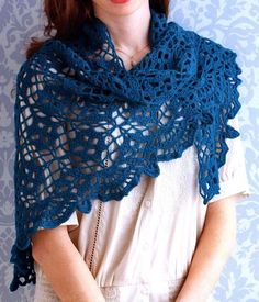 Crochet Shawl - Beautiful Women's Shawl For Spring