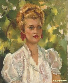 Portrait Of A Girl Artwork by Marcel Dyf Hand-painted and Art Prints on canvas for sale,you can custom the size and frame
