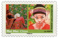 Women from all over the World - Mei Mei. Make Pictures, Sculpture, Postage Stamps, All Over The World, Gemini, Illustration, Images, France, Baseball Cards