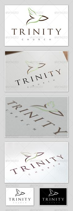 Trinity Church Logo. Can be used for Churches. The AI file has group folders and layers named accordingly. $29.00