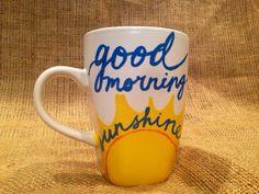 Good Morning Sunshine Coffee Mug // 12 oz Mug от SeedsOfFaithMom