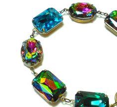 Old Hollywood Vintage Jewels Bracelet  by LisamariesPiece