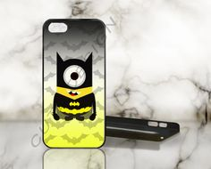 Despicable Minion Batman - Print on Hard Cover - iPhone 5 Case - iPhone 4 / 4s Case - Samsung Galaxy S3 case - Samsung Galaxy S4 case