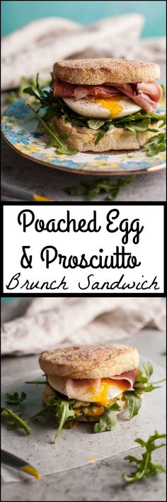 This poached egg and prosciutto brunch sandwich is elegant, easy, and only takes 15 minutes to make.