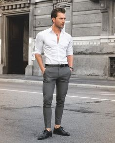 Stylish Business Outfit Ideas For Men - Outfits Styler Men's Business Outfits, Business Casual Men, Men Casual, Business Attire, Formal Men Outfit, Men Formal, Semi Formal Outfits, Formal Dresses For Men, Formal Shirts For Men