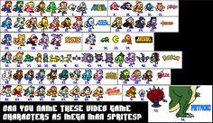 Name 74 video game characters as Mega Man sprites Quiz - By N64GamerReviews