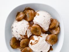 Caramelized Bananas  http://www.foodnetwork.com/recipes-and-cooking/5-cold-weather-weeknight-dinners/pictures/index.html