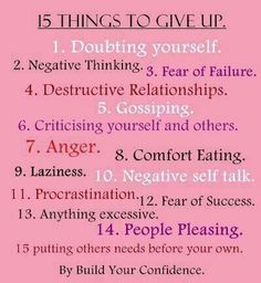Giving up these 15 things will lead to your best #writing!    www.writersrelief.com