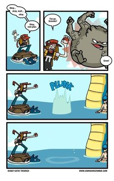 What would really happen in a pokemon battle in the water