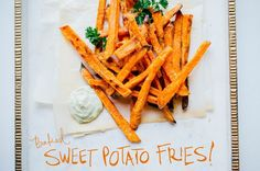 Baked Sweet Potato Fries with Avocado Dipping Sauce