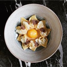 """5,180 Likes, 26 Comments - The Art of Plating (@theartofplating) on Instagram: """"Veal tortellini, egg yolk confit in prosciutto fat, parmigiano, and truffles by @rafacovarrubias…"""""""