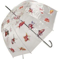 """i'm so wet i might as well be a fish in the sea"" - whimsical fish bowl umbrella #design"