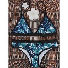 ZAFUL Bikini Palm Leaf Print Bikini Set Push Up Women 2018 Sexy High Cut Swimwear Bathing Suit Summer Beachwear Brazilian Bikini