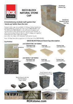 Stack Stone Finish On A Diy Retaining Wall Block For