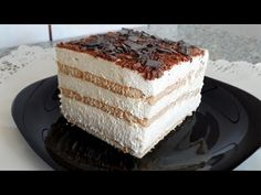 PRAJITURA IN 10 MINUTE FARA COACERE / WITHOUT BAKING - YouTube No Cook Desserts, Vanilla Cake, Nutella, Cake Recipes, Caramel, Bacon, Cooking, Breakfast, Youtube