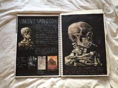 Sketchbook Drawing GCSE sketchbook - Exploring death in Van Gogh's work A Level Art Sketchbook, Sketchbook Layout, Textiles Sketchbook, Sketchbook Inspiration, Sketchbook Ideas, Photography Books, Free Photography, Photography Awards, Photography Contract