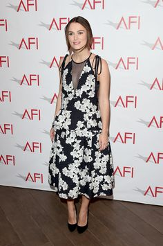 Keira Knightley in a floral dress