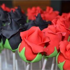 Birthday Cake Pops - Roses
