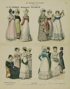 "ALEMANIA:""dama de la moda de la época de 1814 - 1819."