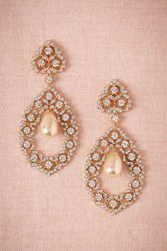 Chandelier earrings add elegance