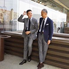 Alan See & Noboru Kakuta. Classic Man, Classic Style, My Style, Hair Style, Mens Fashion Suits, Mens Suits, Men's Fashion, Fashion Styles, Fashion Ideas