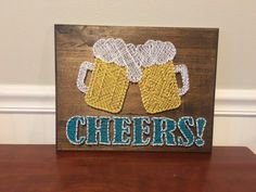 String Art - Pattern and Instructions Only String Art Patterns, Craft Patterns, Canvas Painting Projects, Art Projects, Beer Bottle Crafts, Indoor Crafts, Handmade Crafts, Diy Crafts, Bubble Art