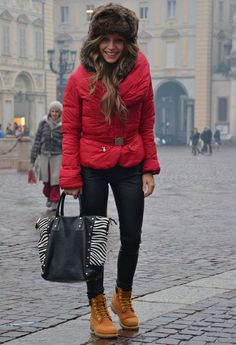 Timberland Rosa Outfit