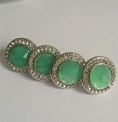Dipped Mint Round Crystal Earring Marked Down $7.50 www.popofchic.com